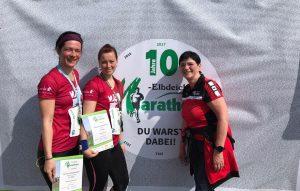 Der Elbdeichmarathon - Lewida war dabei